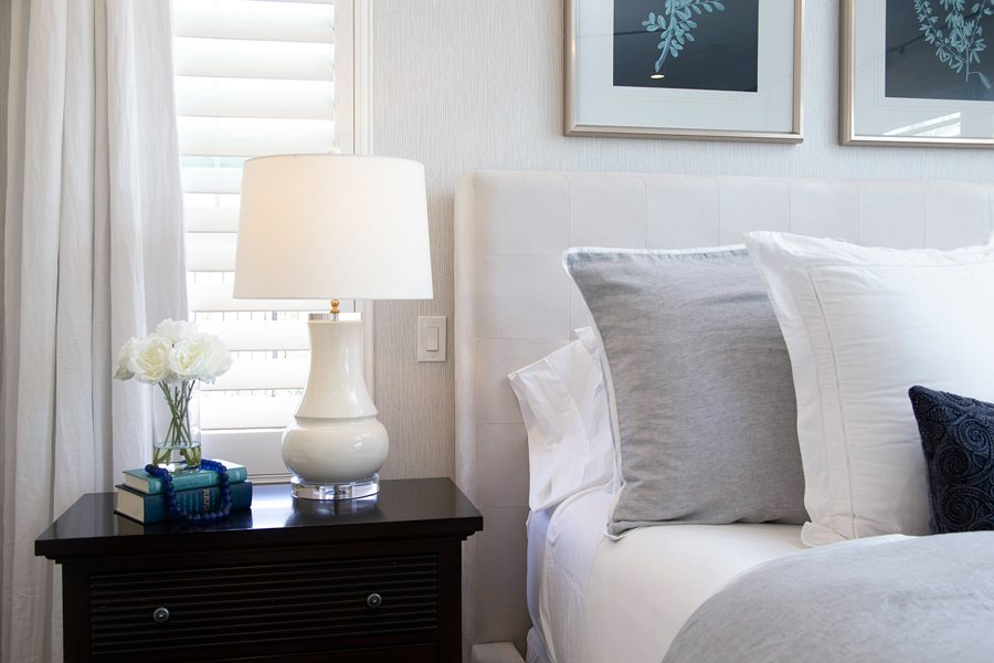 Coastal Transitional Bedroom Accents